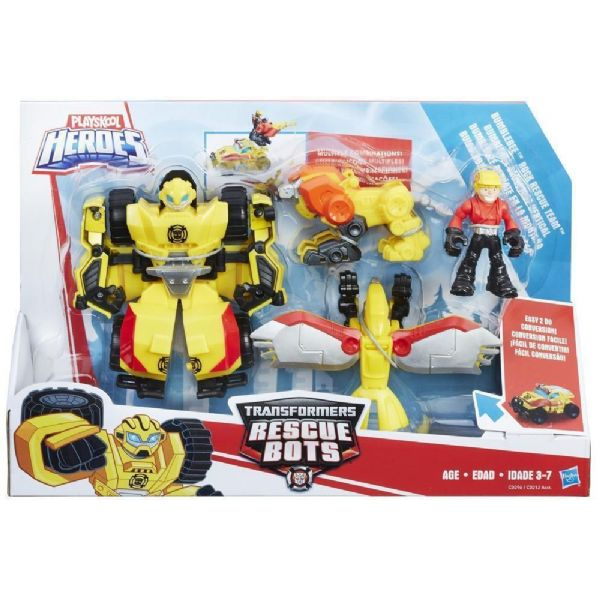 Transformers Rescue Bots Bumblebee Rock Rescue Team or Arctic Rescue Boulder